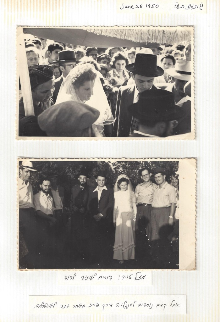 Dr. Schlesinger's wedding, June, 1950